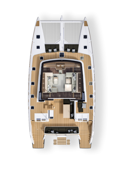 Lagoon 630 - Main deck