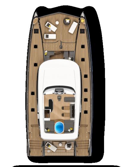 Lagoon 78 - Solarium deck with jacuzzi