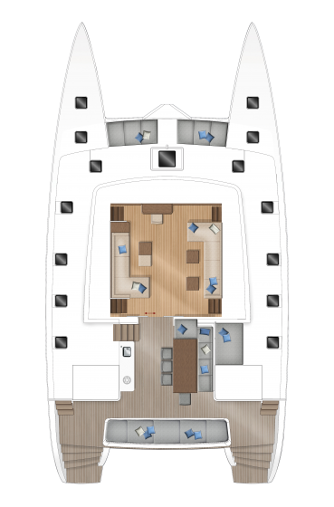 Lagoon 560 - Main deck - lateral galley