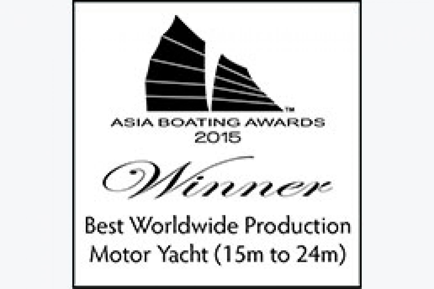 The Lagoon 630 MY is awarded the Best Worldwide Production Motor Yacht (up to 15m) trophy in Asia