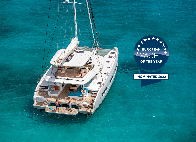 "Nomination du Lagoon 55 pour devenir ""European Yacht of the Year 2022"""