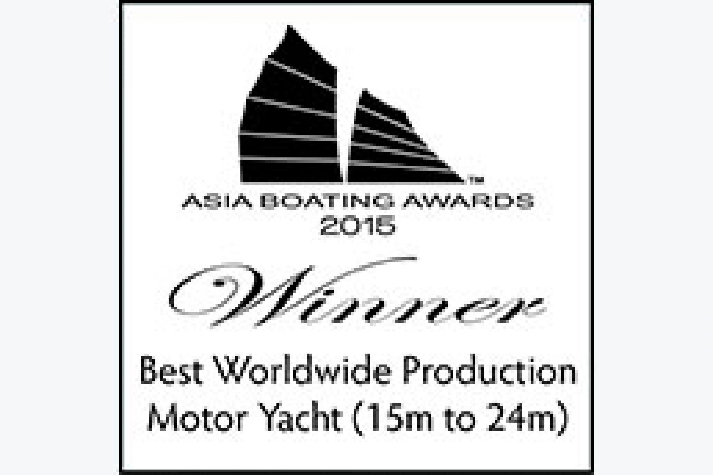 Le 630 Motor Yacht élu meilleur Motoryacht de l'année (15m à 24m) en Asie
