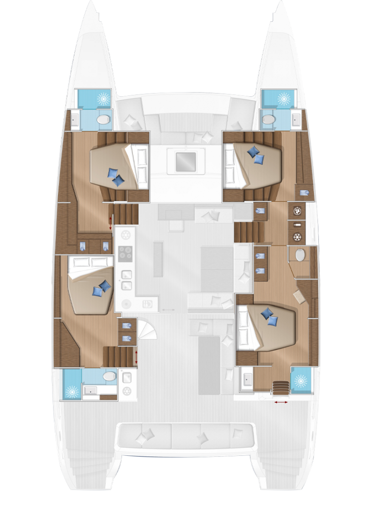 4 cabins