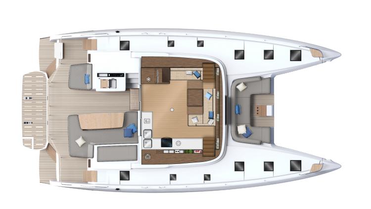 Carré- cockpit - version 6 cabines