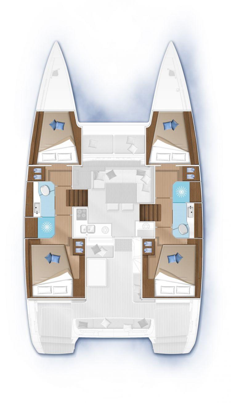 Lagoon 40 - 4 cabines 2 sdb