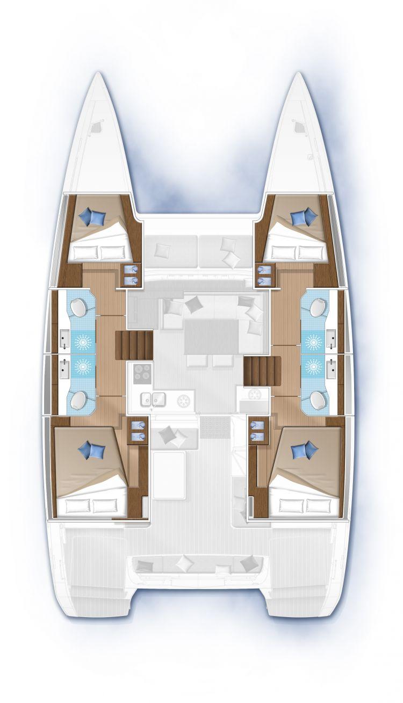 Lagoon 40 - 4 cabines 4 sdb