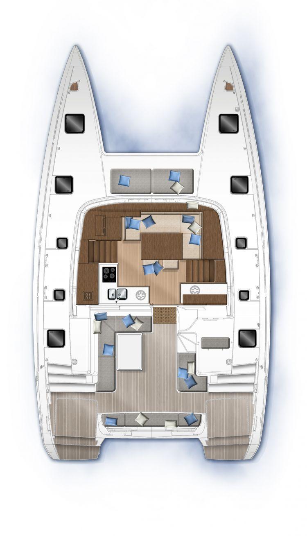 Lagoon 40 - carré cockpit