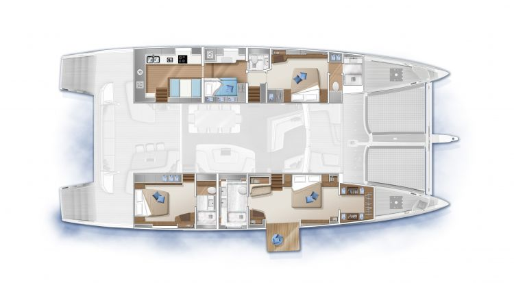 SEVENTY 7 - 3 cabins aft galley (option)