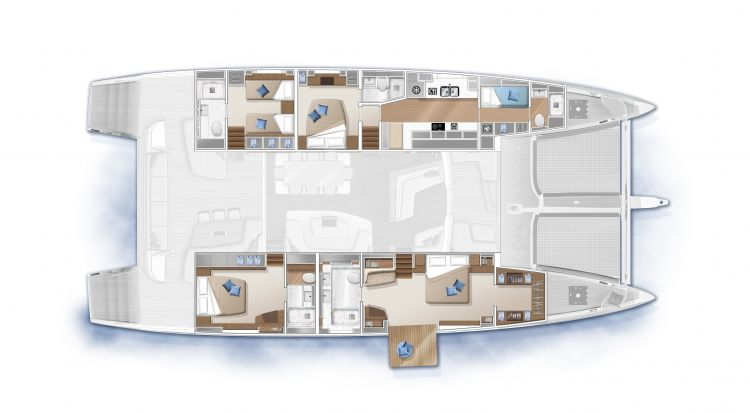 SEVENTY 7 - 4 cabins forward galley (option)